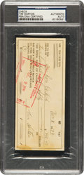 Hockey Collectibles:Others, 1972 Tim Horton Signed Check....