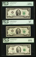 Error Notes:Error Group Lots, Fr. 1935-A $2 1976 Federal Reserve Note. PCGS Very Choice New64PPQ; Fr. 1935-C $2 1976 Federal Reserve Note. PCGS Very Fine 2...(Total: 3 notes)