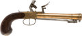 Handguns:Muzzle loading, Exceptional Quality and Scarce Form C. 1800 Center Hammer British Flintlock Pistol. ...
