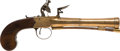 Handguns:Muzzle loading, Large C. 1800 British Center Hammer Flintlock Pistol...