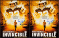 "Football Collectibles:Photos, Vince Papale Signed ""Invincible"" Oversized Photos Lot Of 2...."