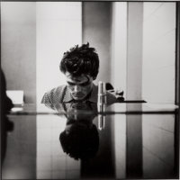 WILLIAM CLAXTON (American, 1927-2008) Chet Baker at the Piano, Hollywood, 1954 Gelatin silver, 1989<