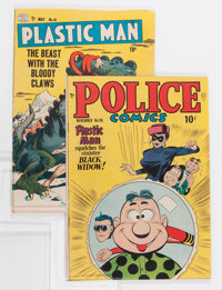 Plastic Man/Police Comics Group (Quality, 1949-53) Condition: Average VG.... (Total: 2 Comic Books)