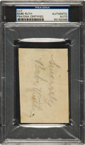 Autographs:Others, Circa 1940 Babe Ruth Signed Cut Autograph....