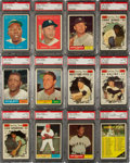 Baseball Cards:Sets, 1961 Topps Baseball Mid to High Grade Complete Set (587)....