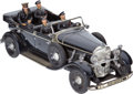 Military & Patriotic:WWII, Rare Tipp and Co. (Tippco) Clockwork Führer Mercedes Convertible Staff Car....