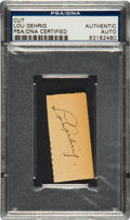 Autographs:Others, Circa 1939 Lou Gehrig Signed Cut Signature....