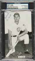 Autographs:Post Cards, Early 1960's Ken Hubbs Signed Photo Postcard....