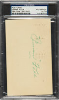 Autographs:Post Cards, 1958 Jimmie Foxx Signed Government Postcard....