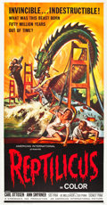 "Movie Posters:Science Fiction, Reptilicus (American International, 1961). Three Sheet (41"" X81"").. ..."