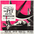 "Movie Posters:Horror, The Pit and the Pendulum (American International, 1961). Six Sheet(81"" X 81"").. ..."