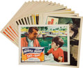 Baseball Collectibles:Others, 1950's-60's Baseball-Themed Films Lobby Cards Lot of 16....