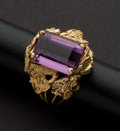 Estate Jewelry:Rings, Estate Gold & Amethyst Ring. ...