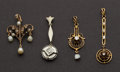 Estate Jewelry:Pendants and Lockets, Four Antique Gold Pendants. ... (Total: 4 Items)