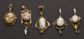 Estate Jewelry:Pendants and Lockets, Five Antique Gold Cameos. ... (Total: 5 Items)