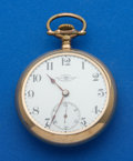 Timepieces:Pocket (pre 1900) , Ball 21 Jewel 18 Size Grade 333 By Elgin Pocket Watch. ...