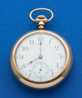 Timepieces:Pocket (post 1900), Waltham 21 Jewel 18 Size Pocket Watch. ...