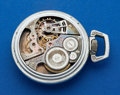 Timepieces:Pocket (post 1900), Elgin Rare Factory Workers 21 Jewel Skeleton Watch. ...