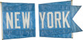 Baseball Collectibles:Others, 1990's New York Mets Flag that Flew over Wrigley Field....