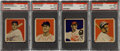 Baseball Cards:Lots, 1949 Bowman Baseball PSA NM-MT+ 8.5 Quartet (4). ...
