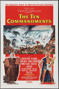 """Movie Posters:Drama, The Ten Commandments (Paramount, 1956). One Sheet (27"""" X 41"""") Style A. Drama.. ..."""