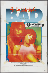 "Andy Warhol's Bad (New World, 1977). One Sheet (27"" X 41"") & Photos (6) (8"" X 10""). Exploitation..."