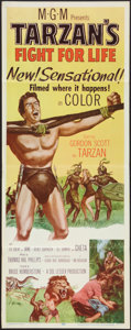 "Movie Posters:Adventure, Tarzan's Fight for Life (MGM, 1958). Insert (14"" X 36"").Adventure.. ..."