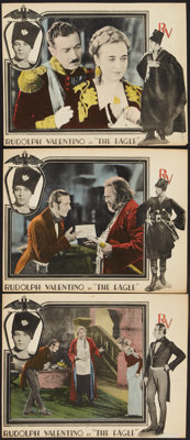 "The Eagle (United Artists, 1925). Lobby Card (10.25"" X 13""). Romance. ... (Total: 3 Items)"