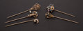 Estate Jewelry:Stick Pins and Hat Pins, Five Early Stick Pins. ... (Total: 5 Items)