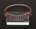 Estate Jewelry:Other , Gold & Amethyst Bangle. ...
