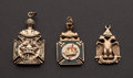 Estate Jewelry:Other , Three Masonic Gold Fobs. ... (Total: 3 Items)