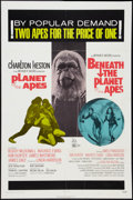 "Movie Posters:Science Fiction, Planet of the Apes/Beneath the Planet of the Apes Combo (20thCentury Fox, 1971). One Sheet (27"" X 41""). Science Fiction.. ..."