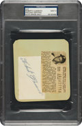 Autographs:Others, Circa 1956 Roberto Clemente Signed Cut Signature, PSA/DNA Mint 9....