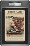 Autographs:Others, 1970's Roger Maris & Mickey Mantle Signed Promotional Card, PSA/DNA Mint 9....