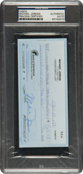 Basketball Collectibles:Others, 1989 Michael Jordan Signed Check, PSA/DNA Gem Mint 10....