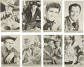 Non-Sport Cards:Sets, 1960's Nu-Card TV Western Complete High Grade Postcard Set (64)....