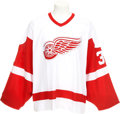 Hockey Collectibles:Uniforms, 2003-04 Dominik Hasek Game Worn Detroit Red Wings Jersey. ...