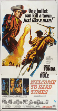 "Welcome to Hard Times (MGM, 1967). Three Sheet (41"" X 81""). Western"