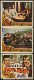 """Movie Posters:Adventure, Raiders of the Desert (Universal, 1941). Title Lobby Card and LobbyCards (2) (11"""" X 14""""). Adventure.. ... (Total: 3 Item)"""