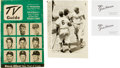 Baseball Collectibles:Photos, Jackie Robinson Wire Photo, T.V. Guide, and Business Cards Lot Of 4....