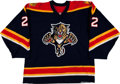 Hockey Collectibles:Uniforms, 2003-04 Kristian Huselius Game Worn Florida Panthers Jersey....