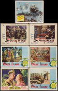 "Movie Posters:War, Wake Island & Others Lot (Paramount, 1942 & R-1950). LobbyCards (7) (11"" X 14""). War.. ... (Total: 7 Items)"