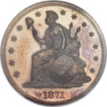 1871 $1 One Dollar, Judd-1148, Pollock-1290, R.6-7, PR63 Red and Brown PCGS....(PCGS# 71410)