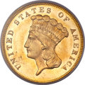 Three Dollar Gold Pieces, 1880 $3 MS65 PCGS....