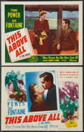"""Movie Posters:War, This Above All (20th Century Fox, R-1952). Title Lobby Card andLobby Card (11"""" X 14""""). War.. ... (Total: 2 Items)"""