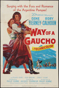 "Movie Posters:Adventure, Way of a Gaucho (20th Century Fox, 1952). One Sheet (27"" X 41"").Adventure.. ..."