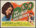 "Movie Posters:Crime, The Brasher Doubloon (20th Century Fox, 1946). Title Lobby Card(11"" X 14"") and NTA Double Sided Herald (8.5"" X 11""). Crime....(Total: 2 Items)"