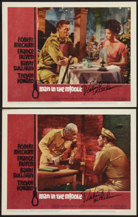"""Man in the Middle (20th Century Fox, 1964). Autographed Lobby Cards (2) (11"""" X 14""""). War. ... (Total: 2 Items)"""