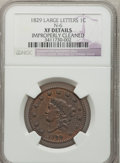 Large Cents: , 1829 1C Large Letters -- Improperly Cleaned -- NGC Details. XF.N-6. NGC Census: (6/44). PCGS Population (3/41). Mintage: ...