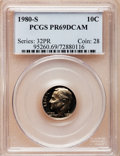 Proof Roosevelt Dimes: , 1980-S 10C PR69 Deep Cameo PCGS. PCGS Population (4927/170). NGCCensus: (409/51). Numismedia Wsl. Price for problem free ...
